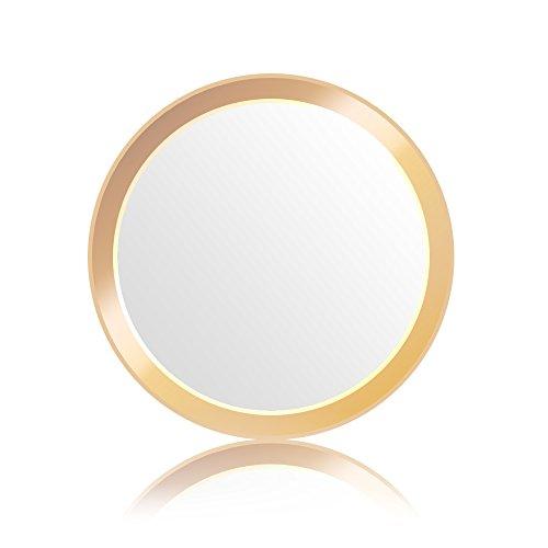 Doutop ホームボタンシール 指紋認証 TouchID iPhone X 8 Plus 7 6S 6 5s iPad Air 2 iPad Pro Mini 3 4 SE対応 アイフォン プラス アルミ 13色 (ホワイト&ゴールド)