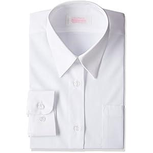 (キャッチ)Catch 形態安定 女子用 長袖Yシャツ S544081 ホワイト 160