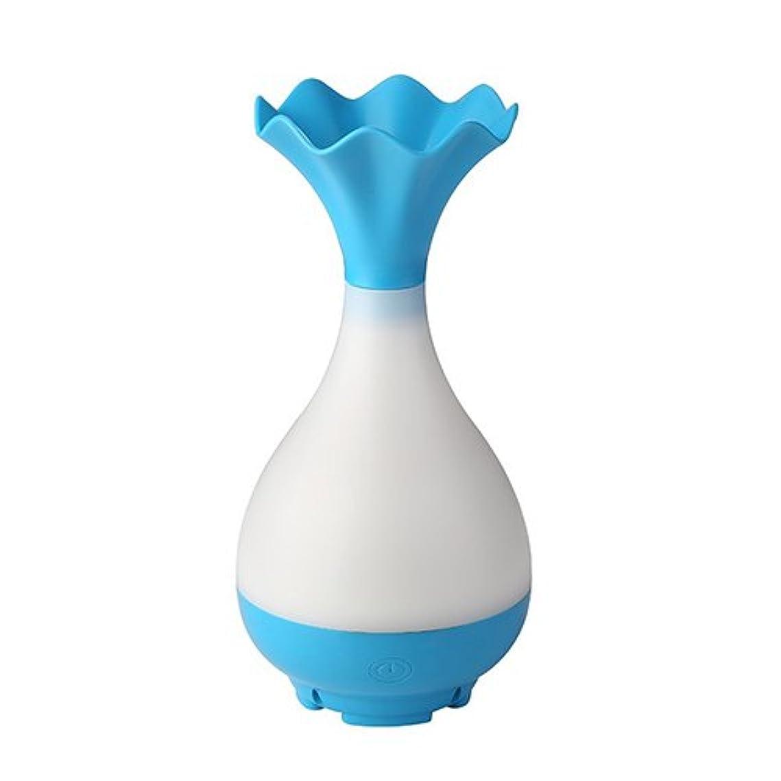手伝うセグメント丁寧Mystic Moments | Blue Vase Bottle USB Aromatherapy Oil Humidifier Diffuser with LED Lighting
