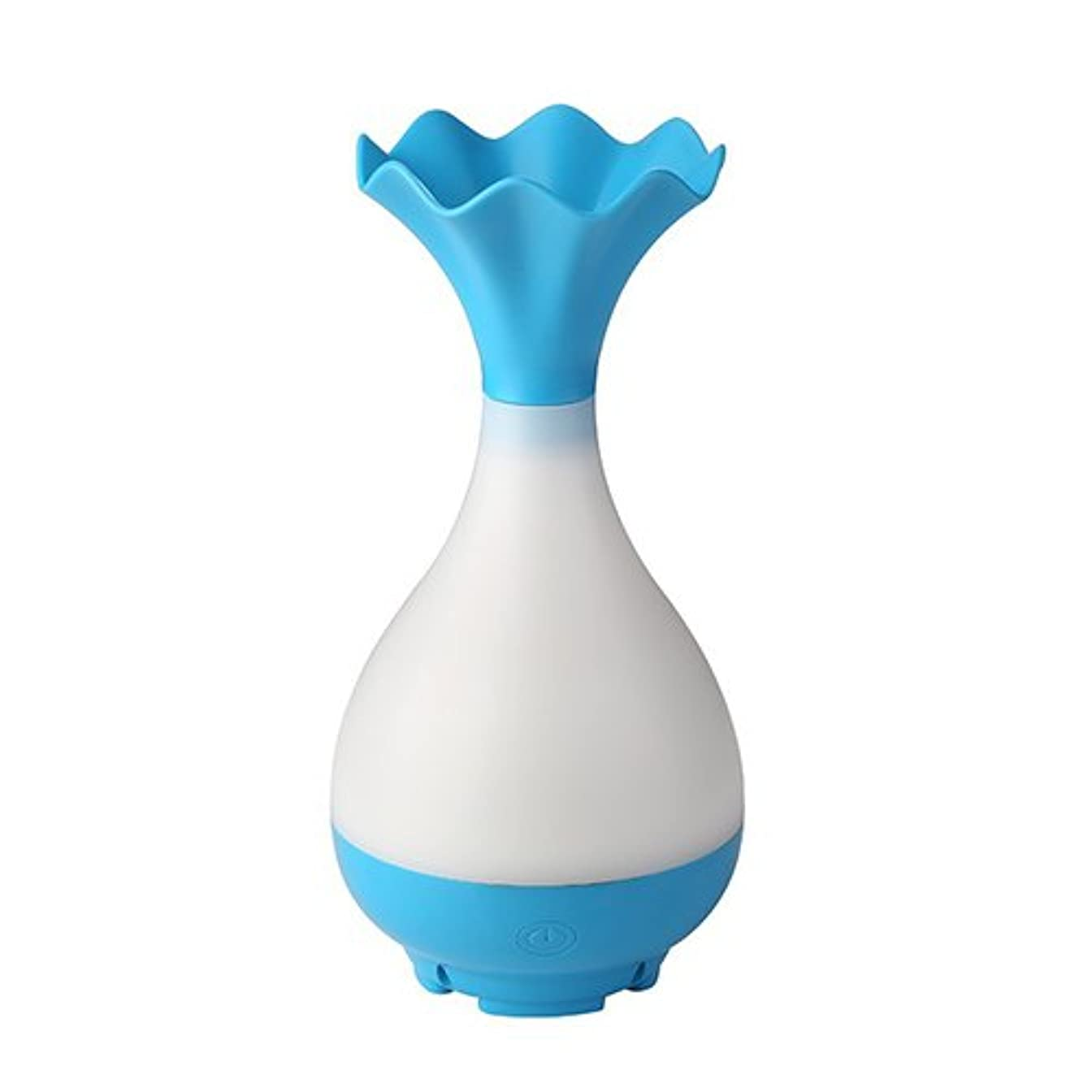 練習オーナー胸Mystic Moments | Blue Vase Bottle USB Aromatherapy Oil Humidifier Diffuser with LED Lighting