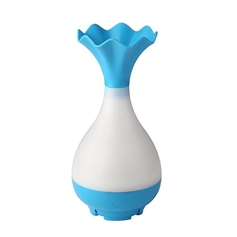 最後のマーカー薬剤師Mystic Moments | Blue Vase Bottle USB Aromatherapy Oil Humidifier Diffuser with LED Lighting