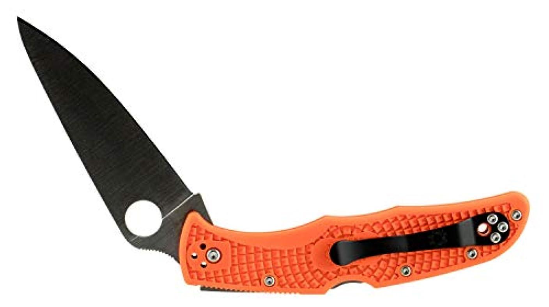 変動するびん適応Spyderco(スパイダルコ) エンデューラ4 フルフラットブレード オレンジ 直刃 C10FPOR