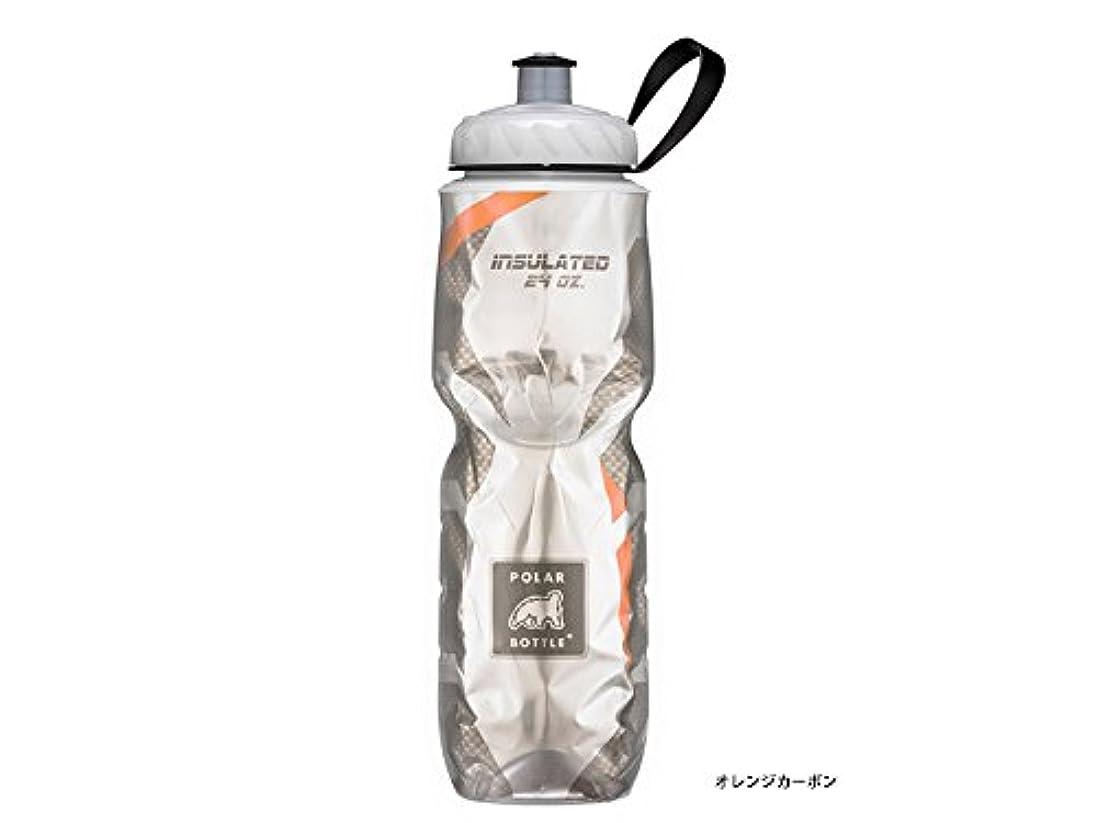 飛躍圧縮かわいらしいポラー(POLAR) 保冷ボトル 24oz <カーボン> オレンジカーボン