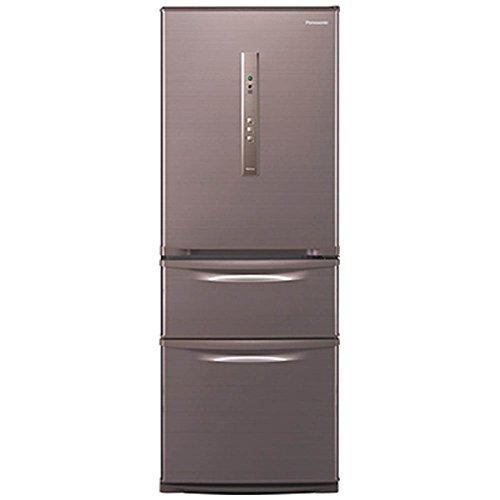 パナソニック 315L 3ドア冷蔵庫(シルキーブラウン)【右開...