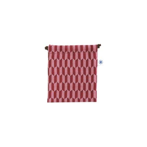 米織小紋・巾着袋(小) (矢羽根)