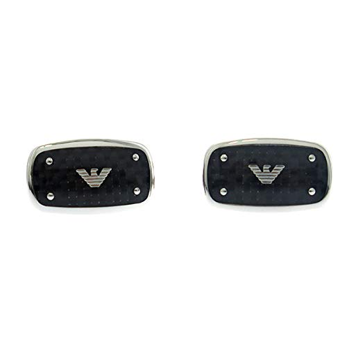 エンポリオアルマーニ EMPORIO ARMANI カフスボタン メンズ EGS1599040 シルバー ブラック ファッション小物 カフス mirai1-562225-ak 並行輸入品 簡易パッケージ品