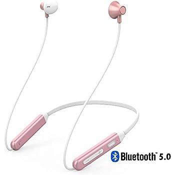 【 bluetooth5.0 高音質 】 ネックバンド型 Siri呼出 Bluetooth イヤホン 防水 Ipx5 ノイズキャンセリング マグネット ハンズフリー スポーツ ブルートゥース ワイヤレス イヤホン ランニング マイク ピンクゴルード かわいい ヘッドホン イヤフォン (ピンク)