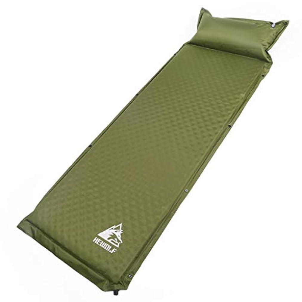 予知地域チャップBrechtonの自己膨脹の睡眠のパッド、屋外活動のための膨脹可能な枕が付いている防水超軽量のコンパクトの接続の空気睡眠のマットの泡のマットレス,グリーン,74*25.6*2(188*65*5cm)