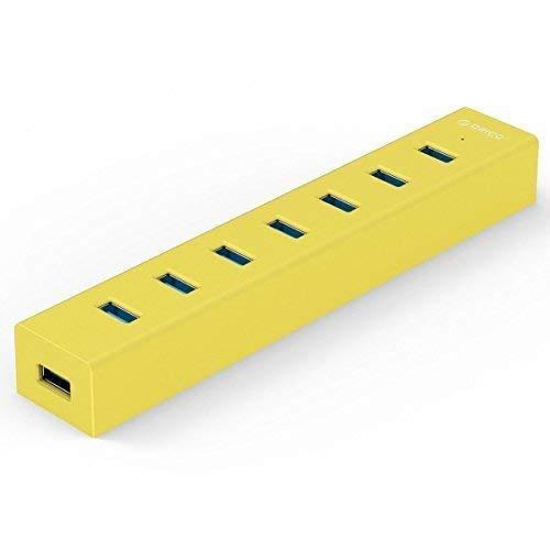 オリコ ORICO 7ポート USB3.0ハブ 5V/2A電源 オレンジ H7013-U3-OR