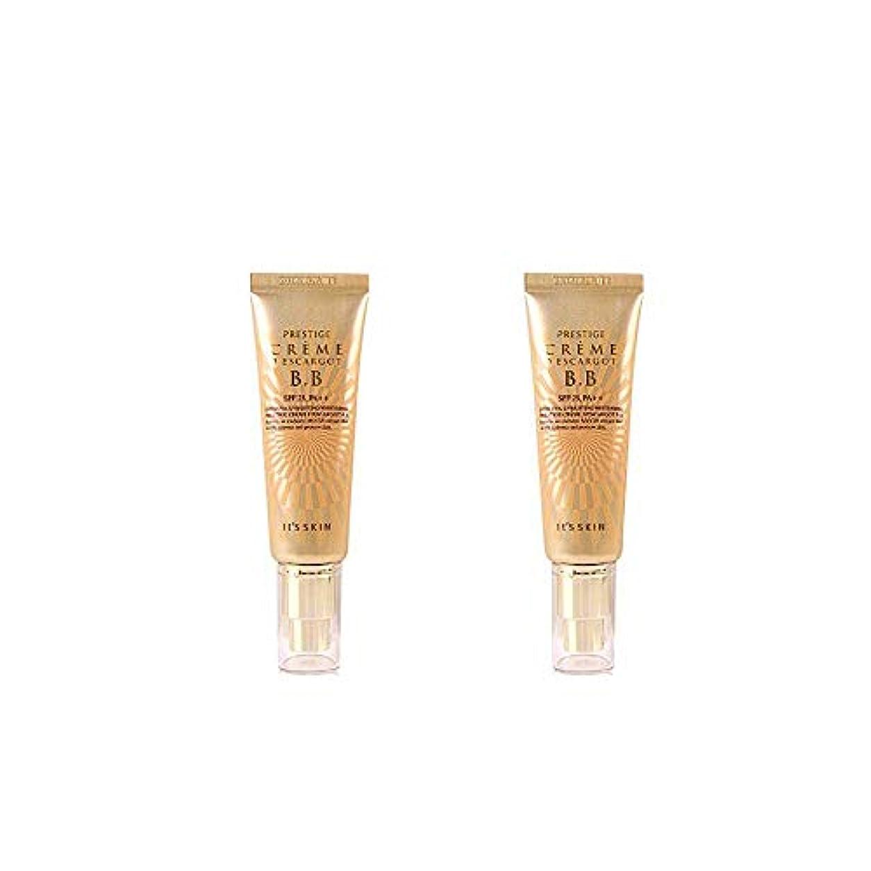 組み合わせる雑品ロッドIt's skin(イッツスキン) かたつむり成分配合 プレステージ クリーム エスカルゴ BB SPF25 PA++50ml*2EA