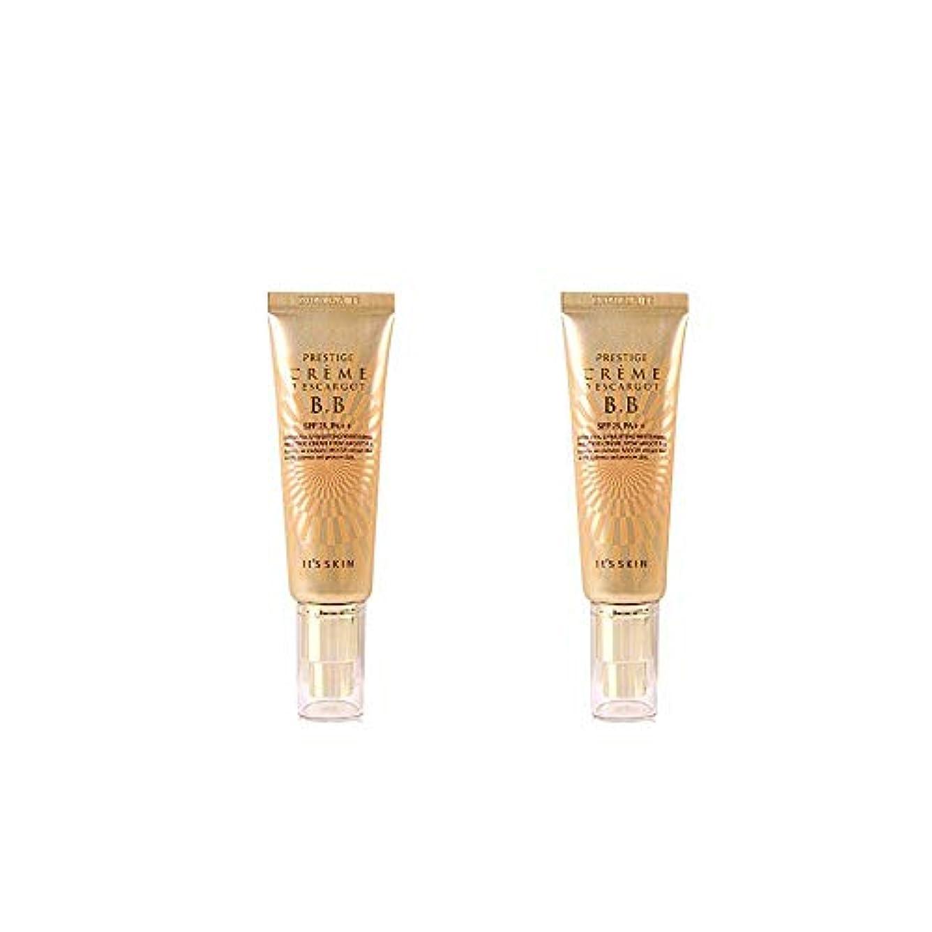 決済エミュレートするオーバーランIt's skin(イッツスキン) かたつむり成分配合 プレステージ クリーム エスカルゴ BB SPF25 PA++50ml*2EA