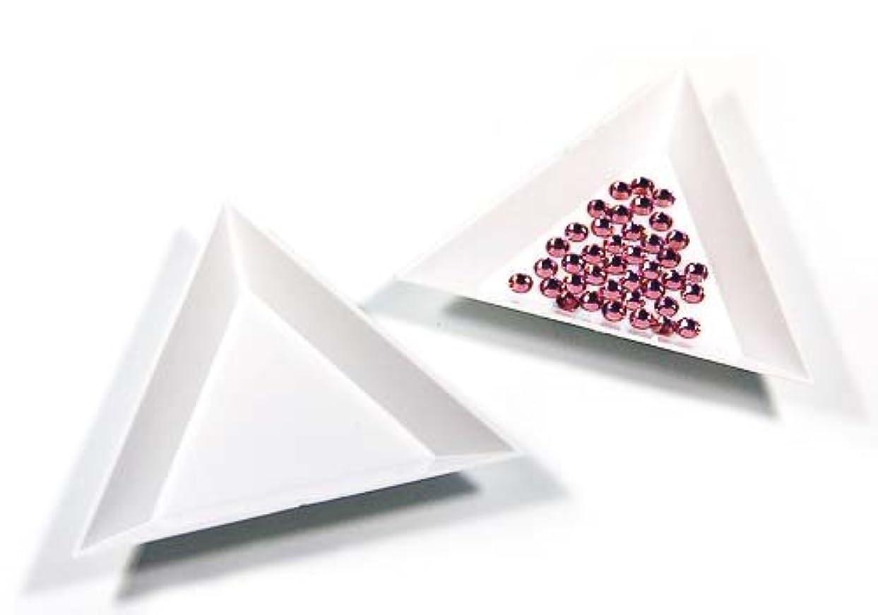 香港ハンディ柔らかさ【ラインストーン77】三角ビーズトレイ 3個セット デコ用品