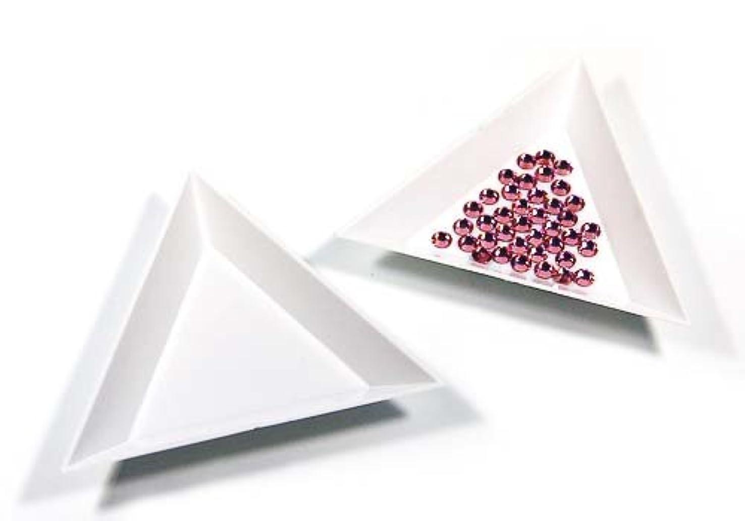 罹患率アクセサリーメッセージ【ラインストーン77】三角ビーズトレイ 3個セット デコ用品