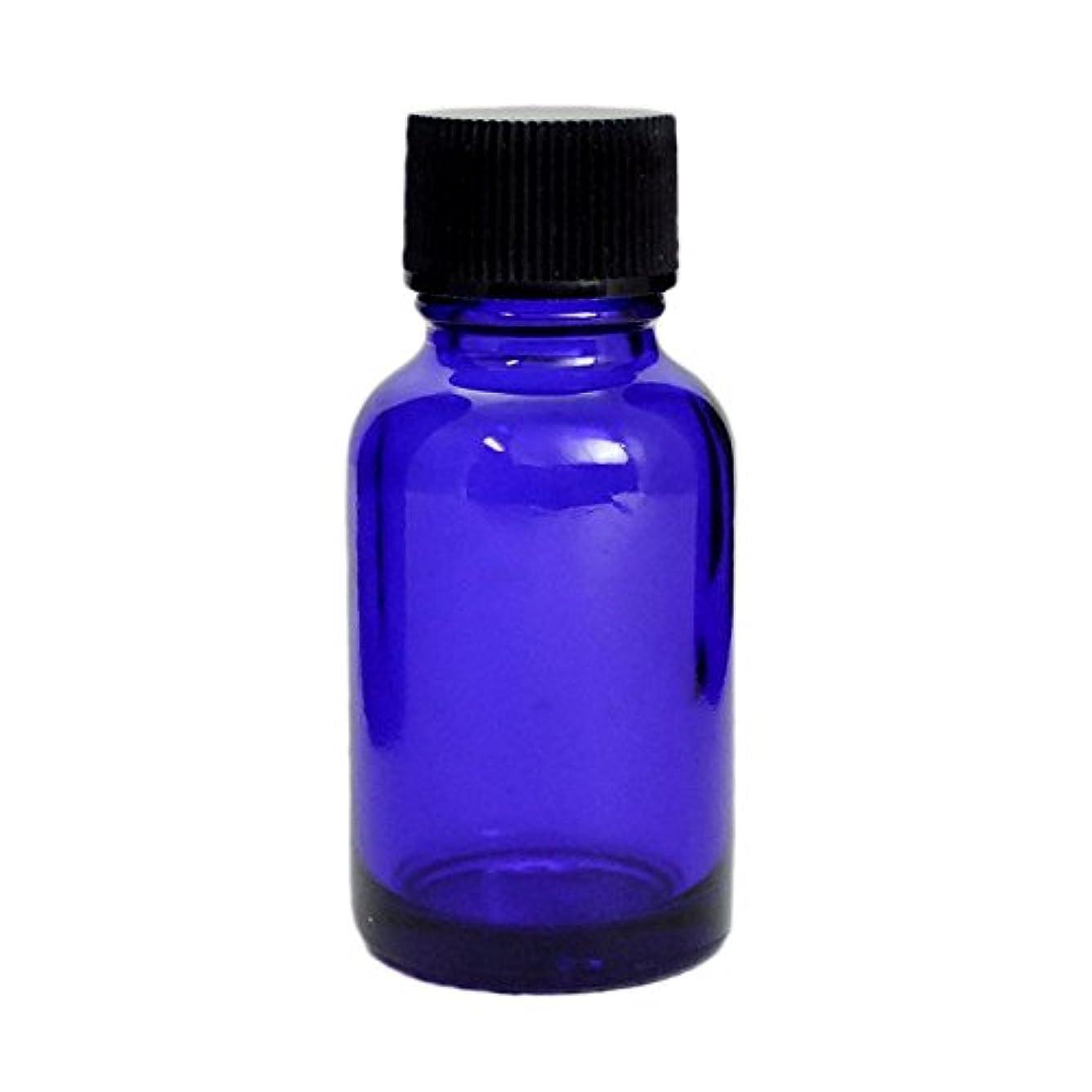 捧げるドットアシュリータファーマン遮光瓶 ブルー 20CC SYA-B20CC (黒CAP ドロップ栓付)