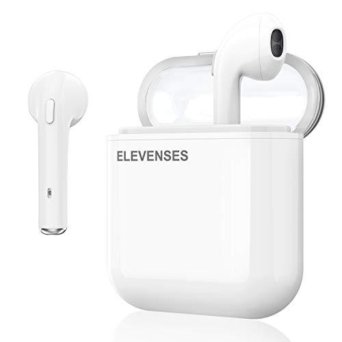 最新版 Bluetooth5.0 ワイヤレスイヤホン ブルートゥース 高音質 左右分離型 5時間連続再生 生活防水 簡単ボタン iPhone/iPad/Android対応(ホワイト)