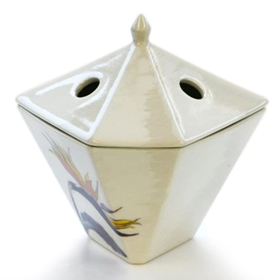 カラスにぎやか間違えた縁香炉 極楽鳥花 白
