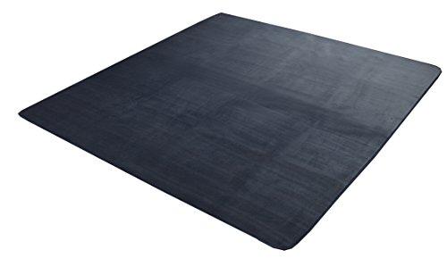 イケヒコ ラグ 1畳 洗える 抗菌 防臭 『ピオニー』 ブルー 約920×1850mm 1枚