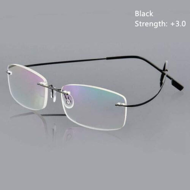 解き明かすパントリーピクニックをするFidgetGear 超軽量チタンリムレス長方形リードメガネメガネユニセックス 銀