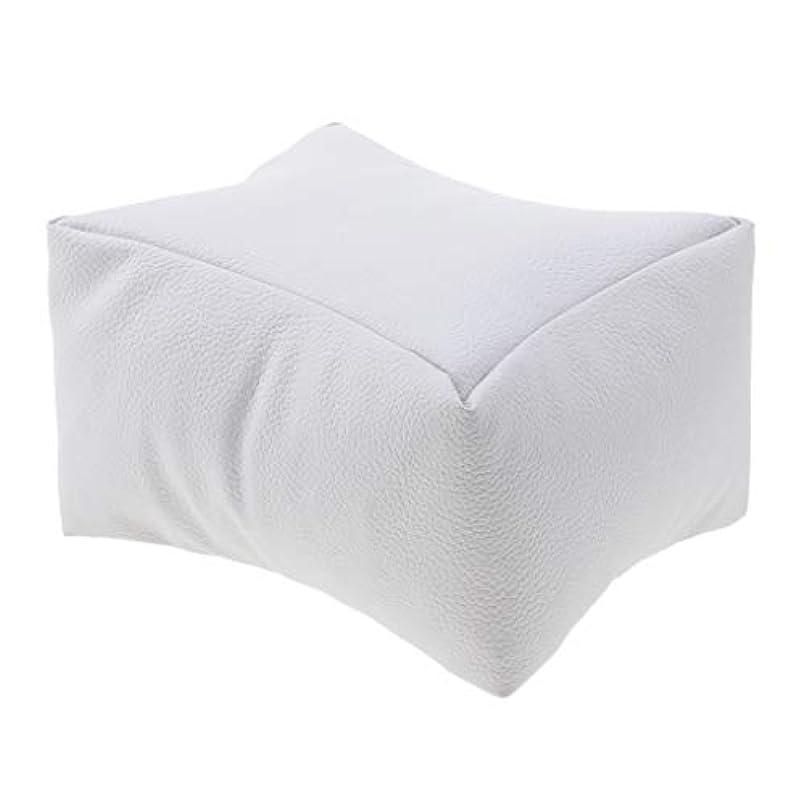 窒息させる活性化繊細ソフトPUレザーネイルアートDIYマニキュアケアハンドアームレストピロークッション - ホワイト