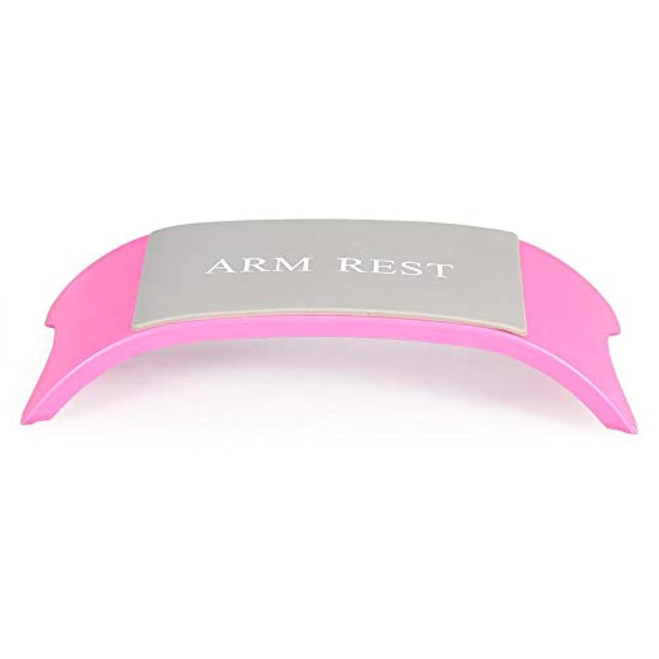 癒すペレグリネーション多様体ハンドネイルアートピローアームクッションレストホールド(ピンク)