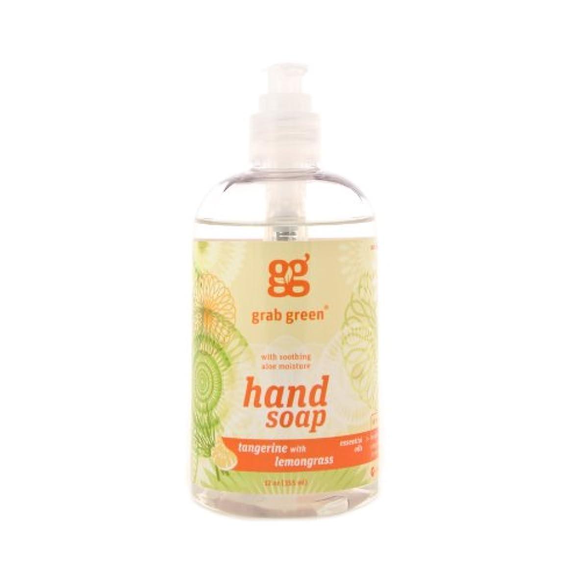 グリーンバックゴシップジャンクGrab Green 天然由来の、生分解性ハンドソープ、レモングラスとタンジェリン、12オンスボトル
