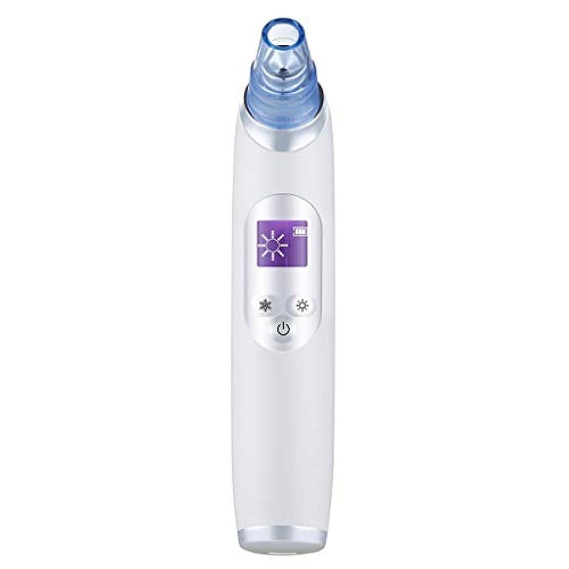 ラショナル細い純粋な真空気孔クリーナー、ポータブル電気冷却と加熱技術引き締めと輝く角質にきびにきびギフト用女性 (Color : B)