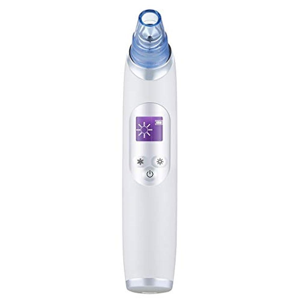 バイバイ性能支援真空気孔クリーナー、ポータブル電気冷却と加熱技術引き締めと輝く角質にきびにきびギフト用女性 (Color : B)