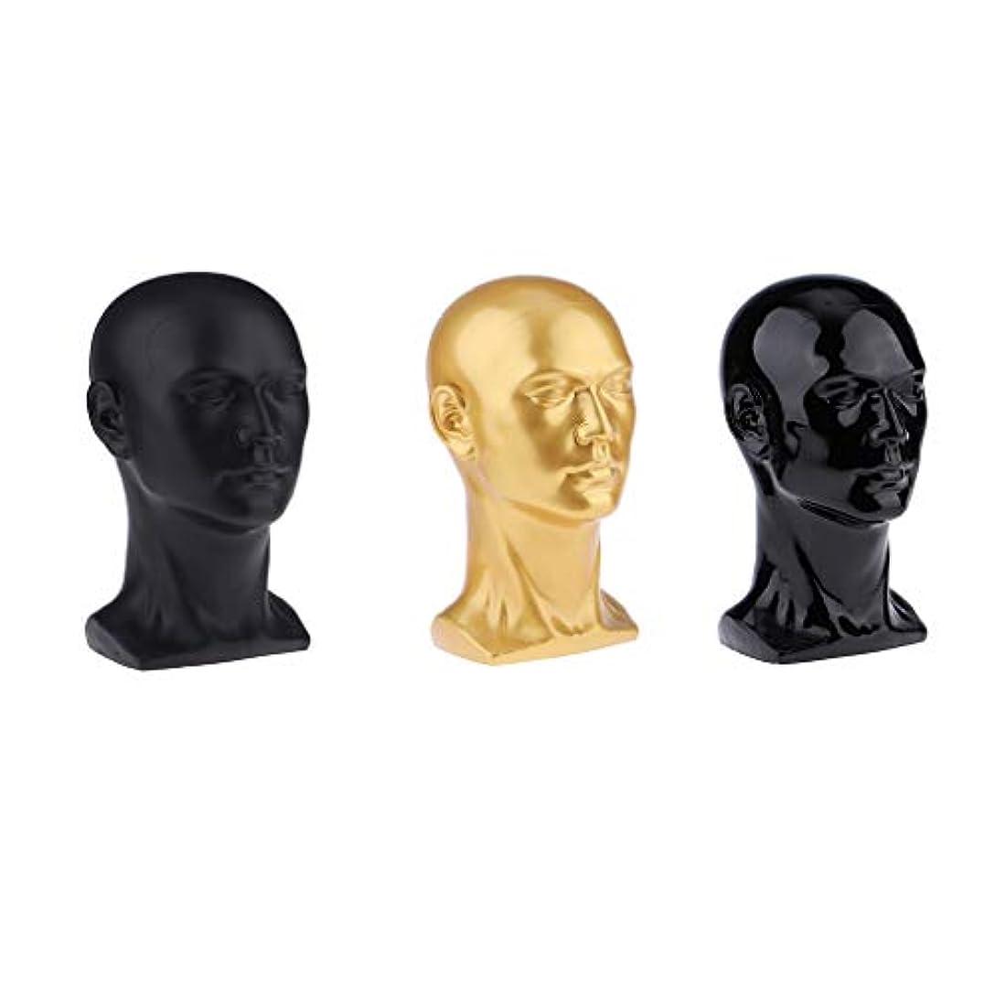 接続詞僕の米ドルToygogo 3ピース/個小売用男性マネキンヘッドディス-ホームオフィスストア帽子ホルダーテーブルモデル装飾