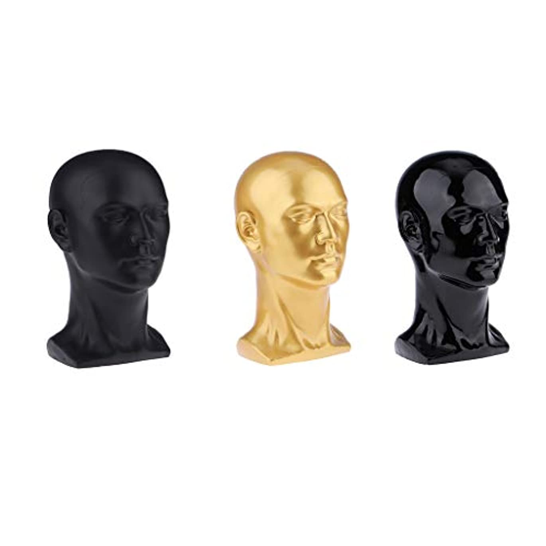 死んでいる野菜シネウィToygogo 3ピース/個小売用男性マネキンヘッドディス-ホームオフィスストア帽子ホルダーテーブルモデル装飾