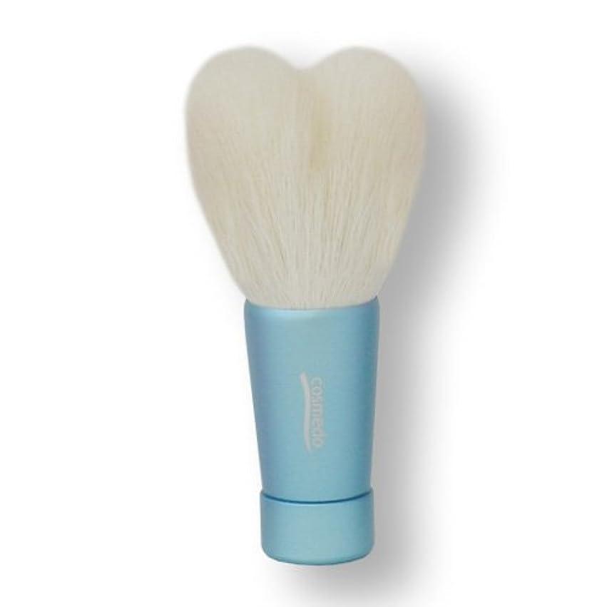公平会議ジェームズダイソン匠の化粧筆コスメ堂 熊野筆 ハート型洗顔ブラシ Mサイズ ブルー (青) 全長80mm