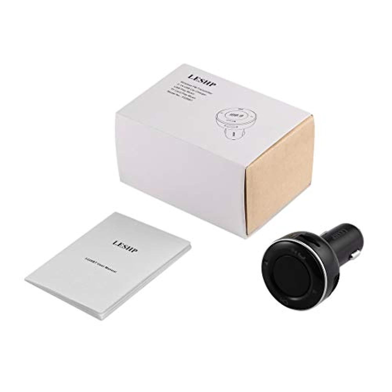 Swiftgood Bluetooth FMトランスミッタ、ワイヤレス車載FMトランスミッタ無線アダプタカーキット、デュアルUSB充電ポート付きユニバーサル車充電器、すべてのスマートフォン用ハンズフリー通話