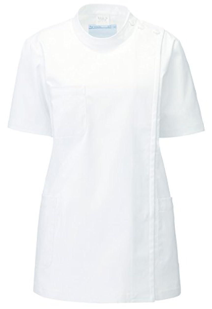 指令精神グラディスカゼン KAZEN  レディス医務衣 半袖 REP105-10(ホワイト) S