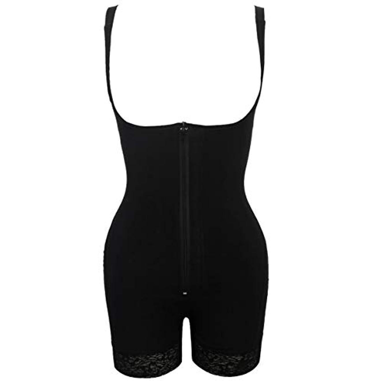 女の子端末襟プラグサイズ女性スリムアンダーウェアボディスーツシェイプウェアレディーアンダーバストボディシェイパー ランジェリープラスサイズウエストトレーナー-ブラック-S
