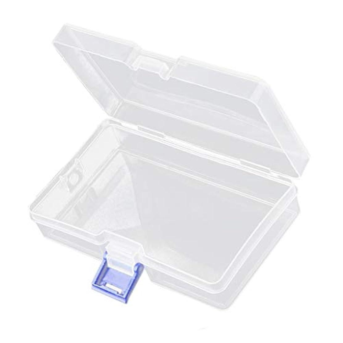 長方形医薬品恐怖SM SunniMix 高品質アクセサリー収納 小物収納ケースボックス 透明 整理箱 小物入れ ネイルアート用品収納 ボックス