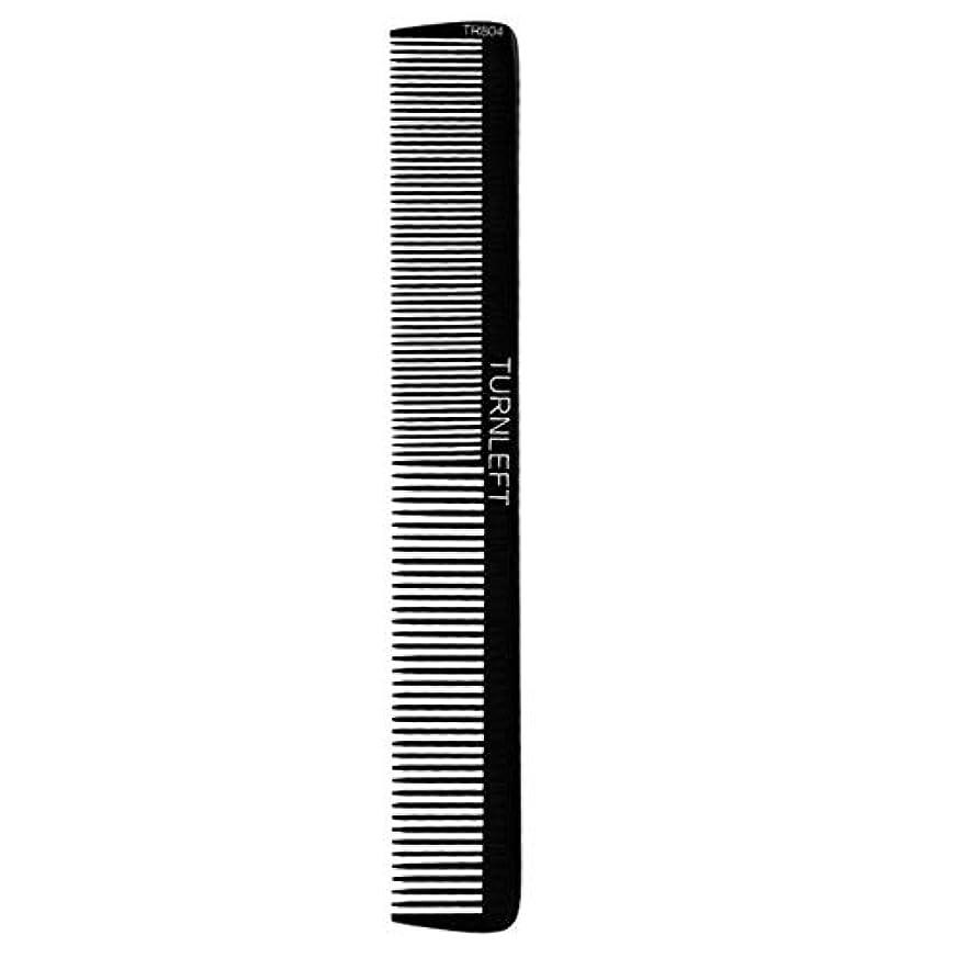 眠いですヘッドレス器具スタイリングコーム帯電防止双頭ハサミ男性理髪理髪コーム モデリングツール (色 : 黒)