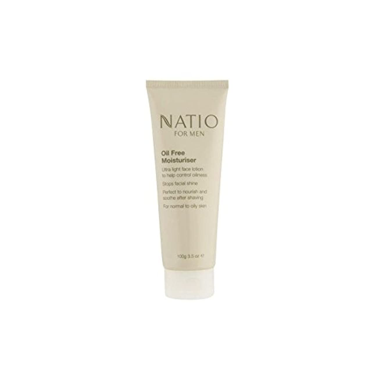 Natio For Men Oil Free Moisturiser (100G) (Pack of 6) - 男性のオイルフリーモイスチャライザー(100グラム)のための x6 [並行輸入品]