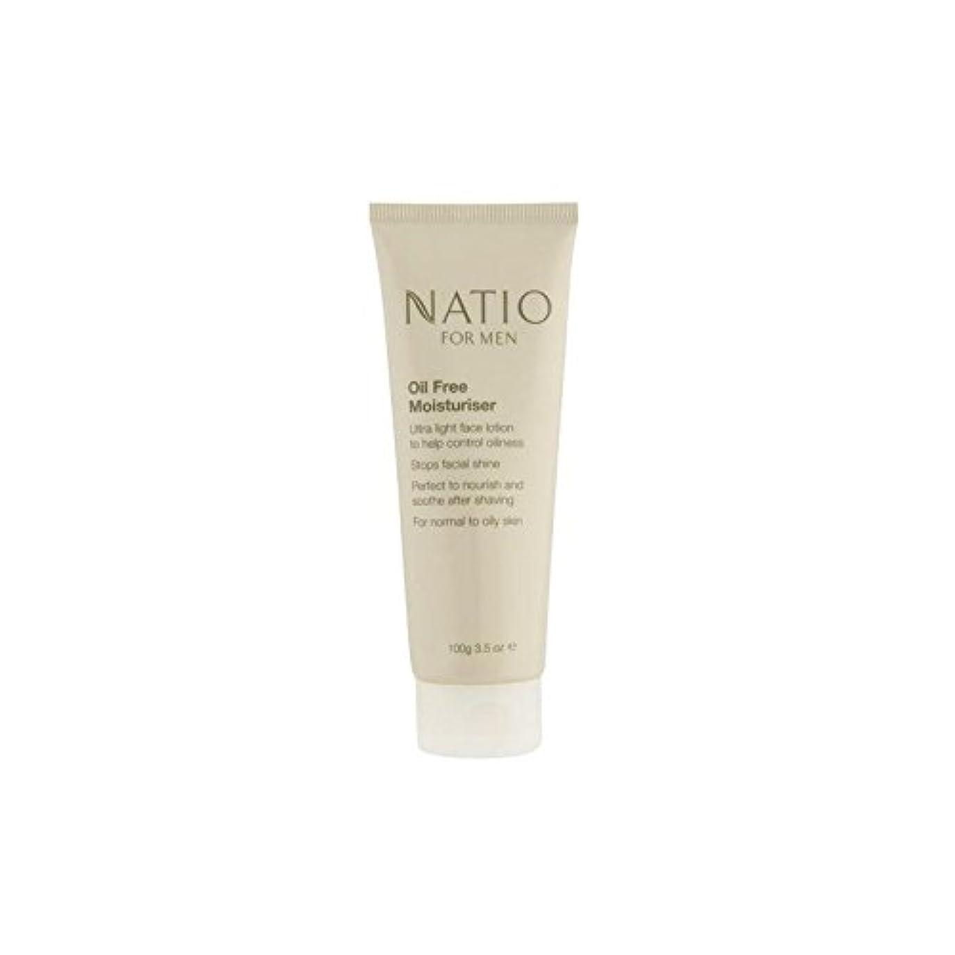 パラメータ香り鎮痛剤Natio For Men Oil Free Moisturiser (100G) (Pack of 6) - 男性のオイルフリーモイスチャライザー(100グラム)のための x6 [並行輸入品]