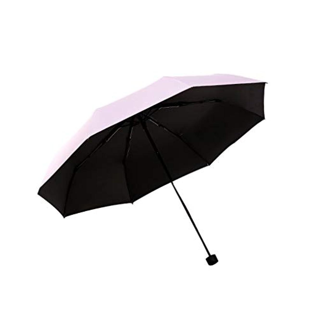 融合オークションクライアント日傘男性と女性傘傘傘超軽量UV家庭用傘折りたたみ屋外特別小さな便利な日焼け止め防水日傘 (色 : ピンク)