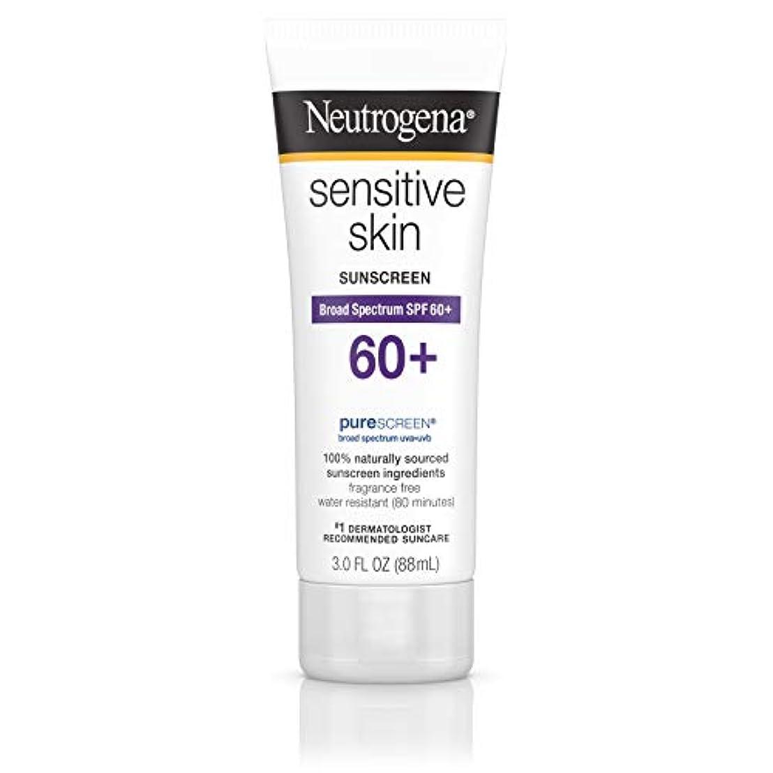 ブル警告乱雑なNeutrogena 敏感肌日焼け止めローションSPF 60 + 3オズ