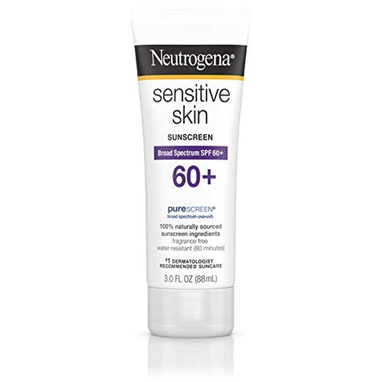 レインコート散るペーストNeutrogena 敏感肌日焼け止めローションSPF 60 + 3オズ