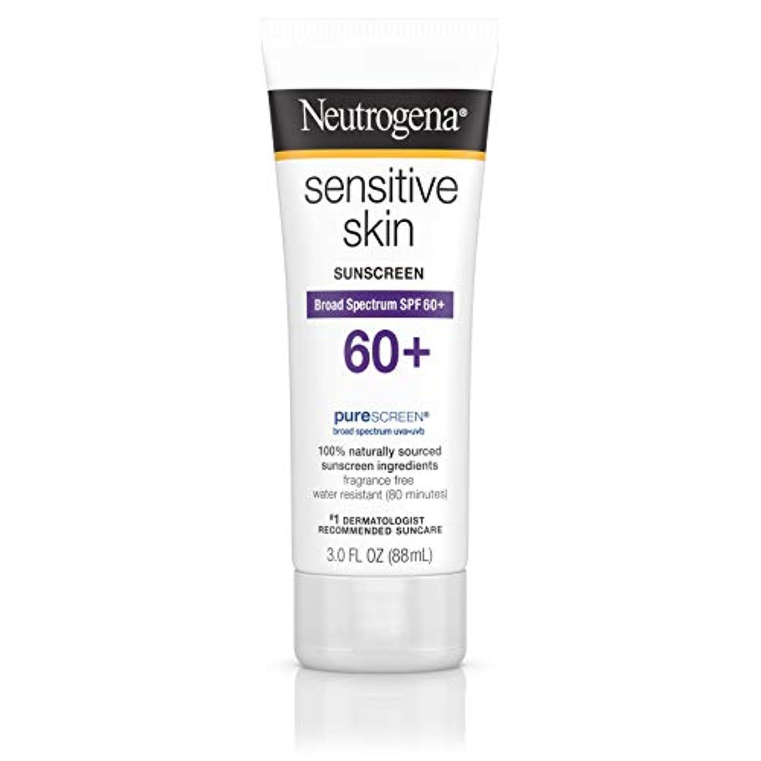 高度同行する正確なNeutrogena 敏感肌日焼け止めローションSPF 60 + 3オズ