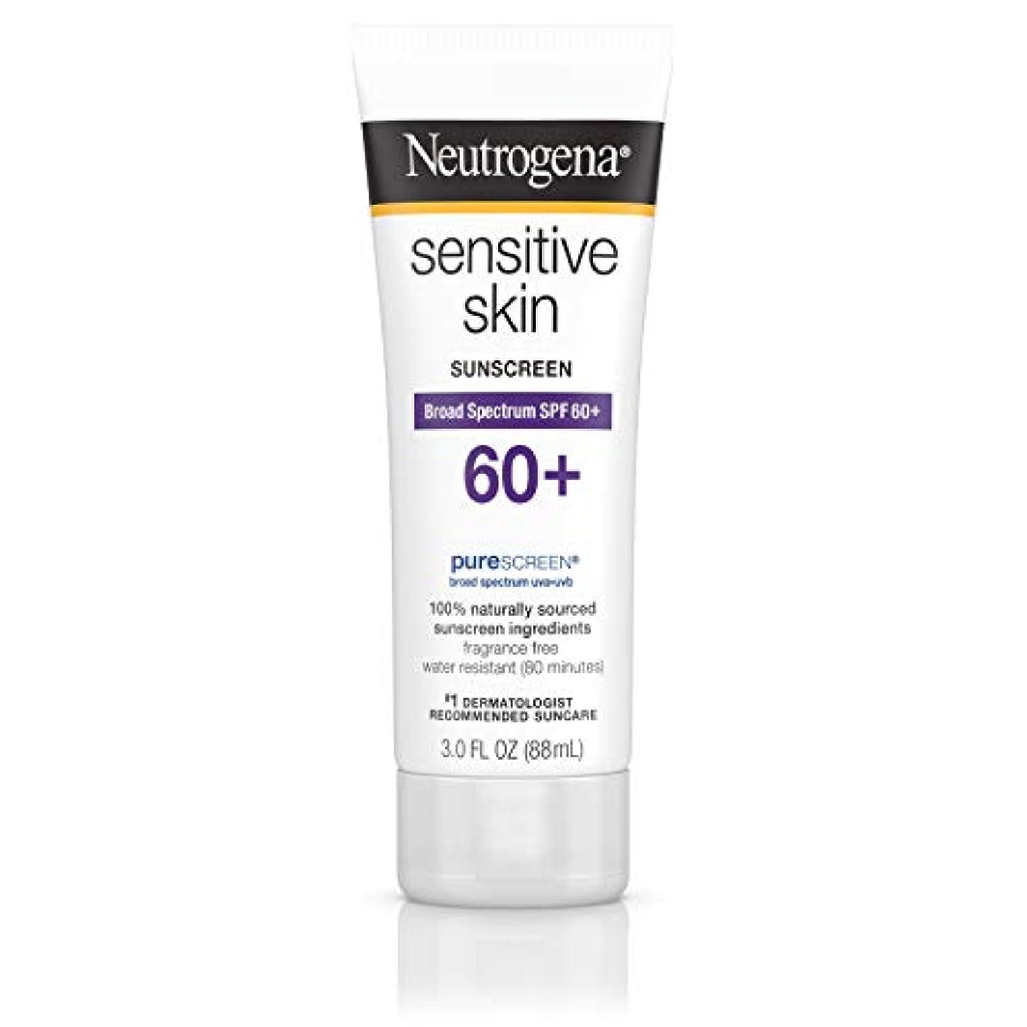 認識怖いゼロNeutrogena 敏感肌日焼け止めローションSPF 60 + 3オズ