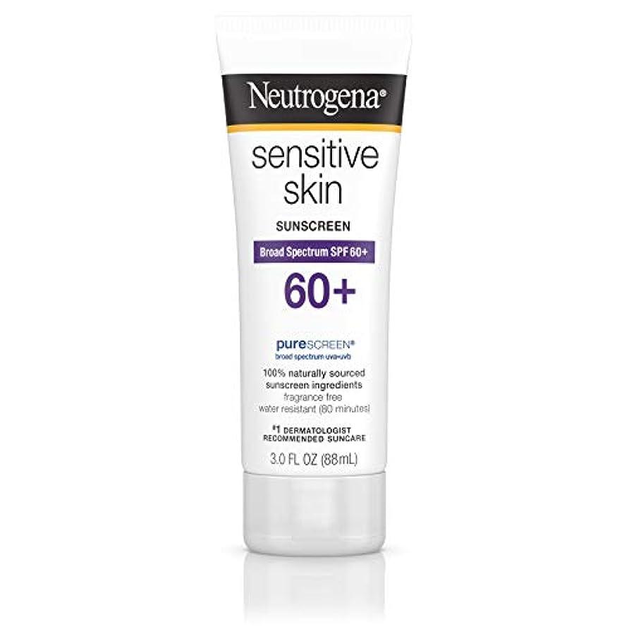 りひどく簡略化するNeutrogena 敏感肌日焼け止めローションSPF 60 + 3オズ