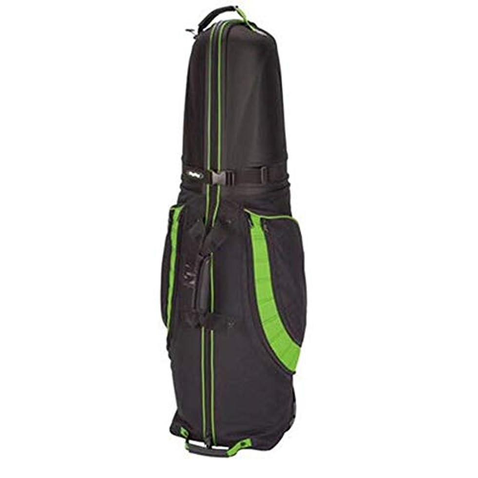 池提供耐えるハードシェルトップトラベルバッグ付きゴルフクラブのクラブゴルフ旅行カバー荷物 ボストンバッグ (色 : 緑, サイズ : 125X40x35cm)
