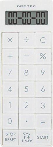 ドリテック(dretec) 電卓付長時間タイマー 【最大セット時間 99時間99分99秒】 ホワイト CL-116WT