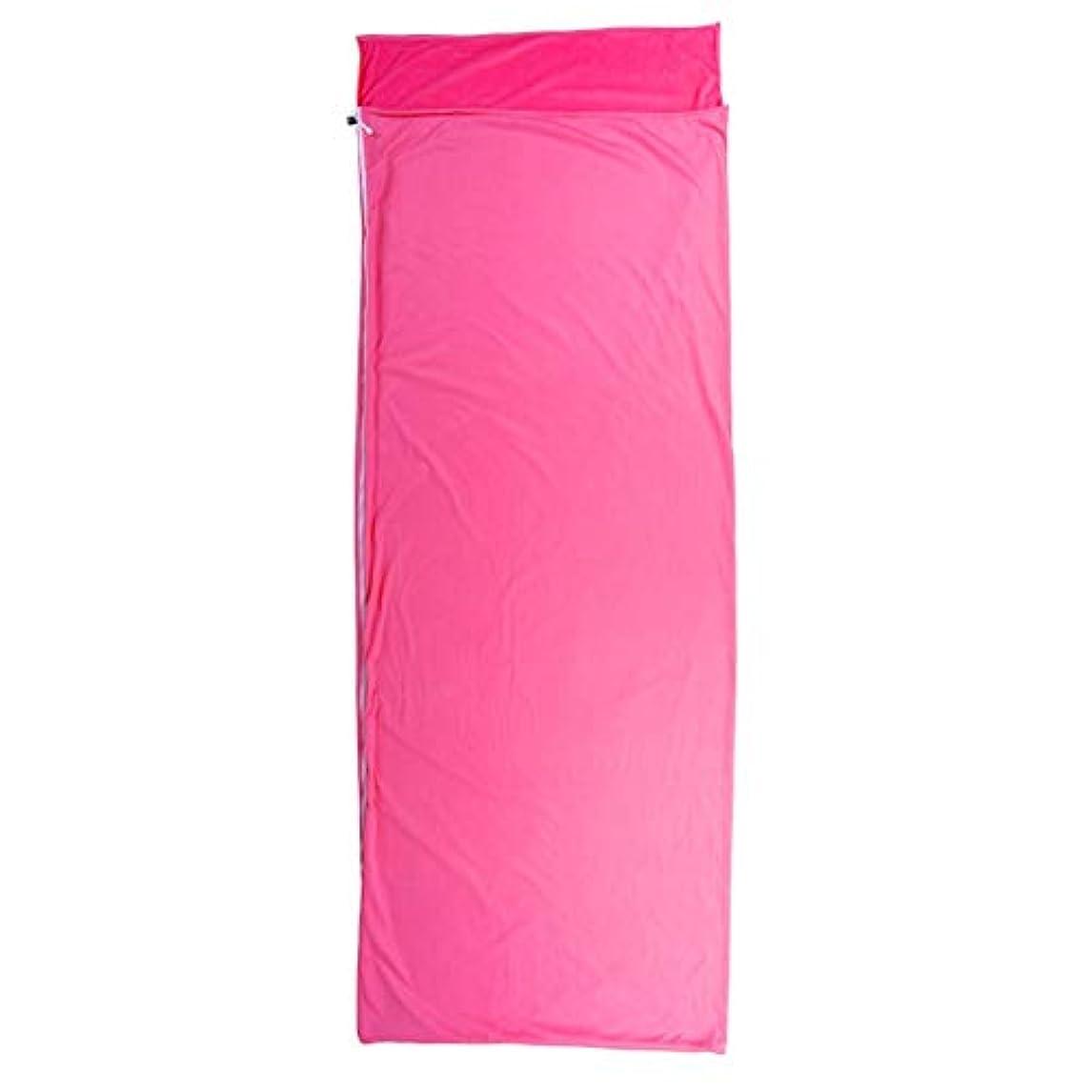 耐える指紋スタウト寝袋キルト3シーズンキャンプブッシュ屋外屋外 四季寝袋ライナーアウトドア旅行封筒超軽量ポータブル旅行の準備 さまざまな色とサイズで利用可能 (色 : ピンク)