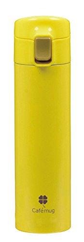 カフェマグファイン ワンタッチマグ 350 イエロー 内面ふっ素加工 HB-875(1本入)