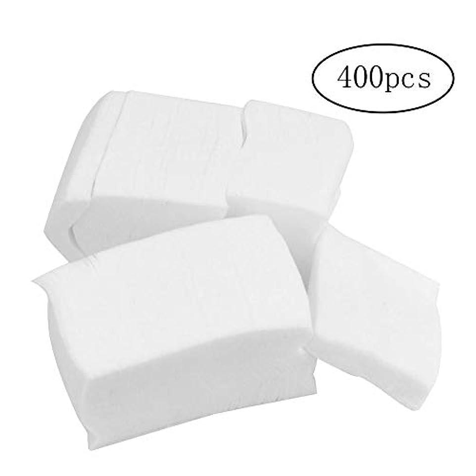 禁止ロゴアミューズ400 PCSネイルケア研磨アクリルUV拭き取りクリーンアップリムーバーゲル綿のヒント