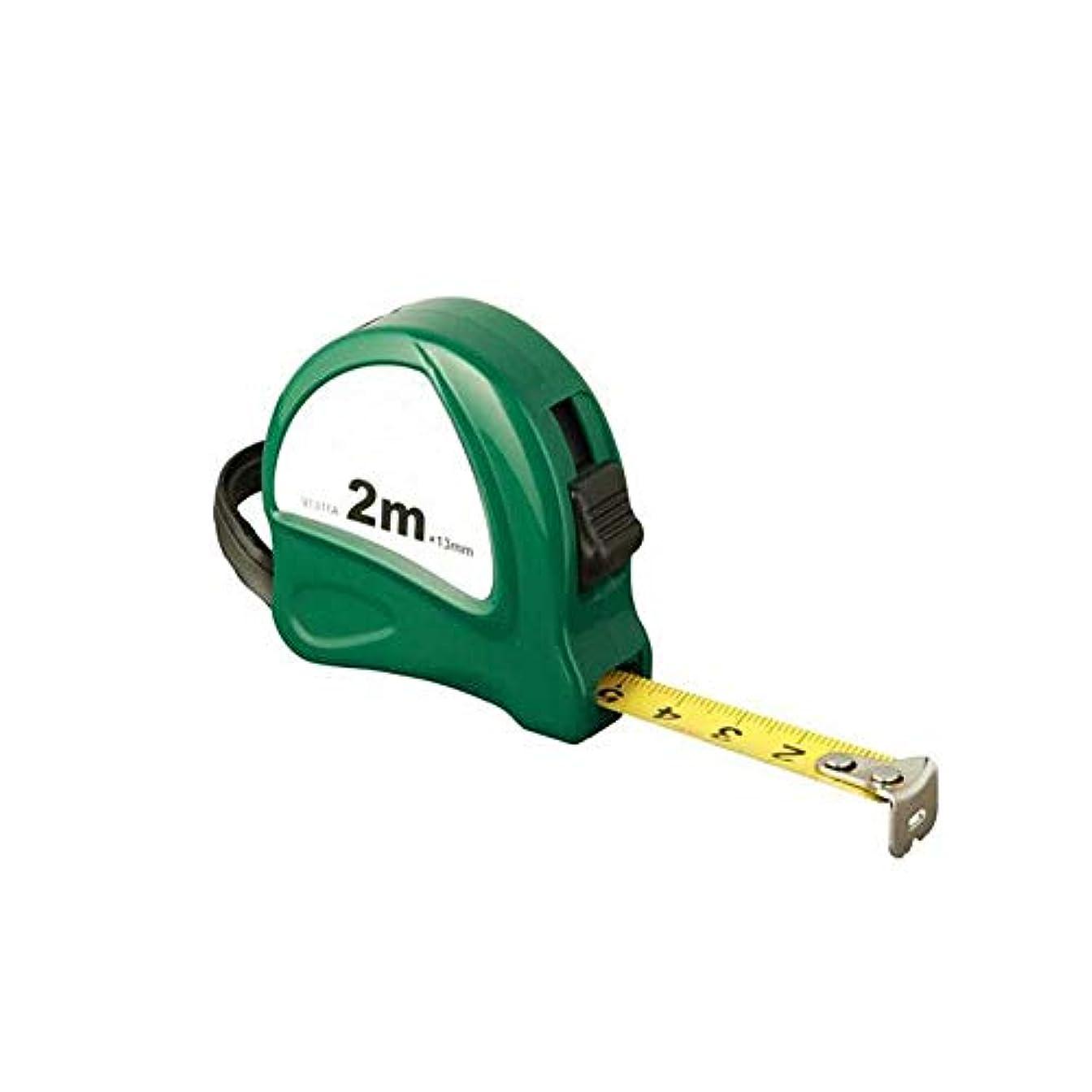 段落槍不注意Chenjinxiang001 スチールテープメジャー、2 M 3 M 5 Mテレスコピックメジャー、水力発電設備の設置測定定規 ファッション (Color : ピンク, Size : 2m*13mm)