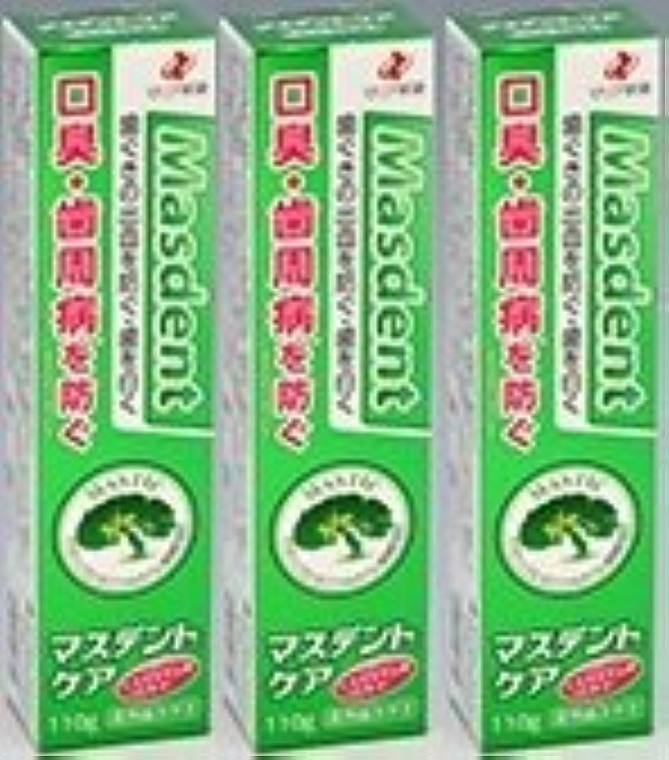 矢じり確認する神の薬用歯磨き マスデントケア110g×3本セット